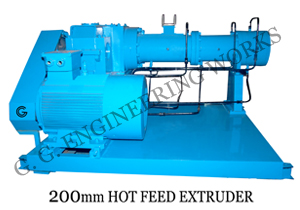 GG 55 MM Hot feed rubber Extruder