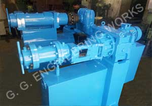 GG 100 MM & 55 MM Rubber Extruder at our works