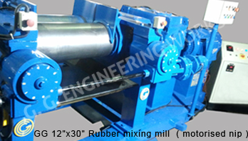 "GG 16""x 42"" Rubber mixing mill with Stock Blender"